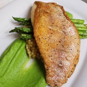 Culinary CPR: Pan-Seared Red Snapper with Parsnip & Spinach Puree