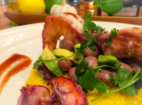 Culinary CPR: Kingfish Rum Glazed Grilled Shrimp & Corn Salad with Cilantro-Mint Dressing